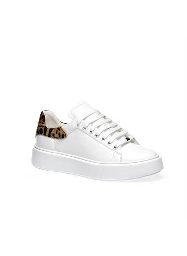 Frau  Kadın  41J8   Sneaker Leather  Beyaz